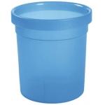 Papelera plástico Offisys capacidad 10 litros color azul indigo