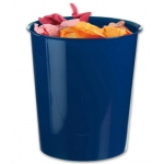 Papelera plástico Q-connect color azul opaco 16 litros