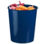 Q-Connect KF15250 - Papelera de plástico, 16 litros, color azul opaco