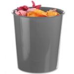 Papelera plástico Q-Connect color gris opaco 16 litros