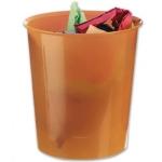 Papelera plástico Q-Connect color naranja translúcido 16 litros