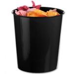 Papelera plástico Q-Connect color negro opaco 16 litros