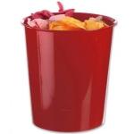 Papelera plástico Q-Connect color rojo opaco 16 litros