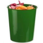 Papelera plástico Q-connect color verde opaco 16 litros