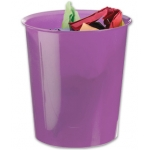 Papelera plástico Q-Connect color violeta translúcido 16 litros