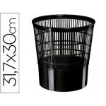 Cep - Papelera de plástico, 16 litros, color negro