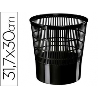 Papelera plástico Cep ecoline rejilla negra 30x30x31,7 cm