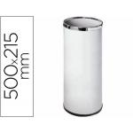 Paragüero metálico 301 color blanco medida 50x21.5 aros cromo