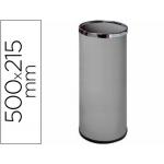 Paragüero metálico 301 color gris medida 50x21,5 aros cromo