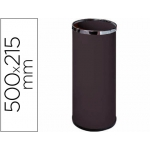 Paragüero metálico 301 color negro medida 50x21,5 aros cromo