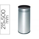 Paragüero metálico 314 perforado plateado 50x21,5 cm