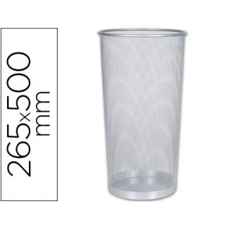 Paragüero metálico Q-Connect rejilla color plata 265 diámetro de x 500 mm