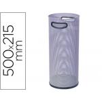 Paragüero metálico rejilla 306 color gris medida 50x21.5 cm