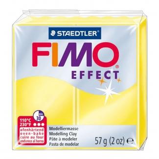 Pasta Staedtler fimo effect 56 gr color amarillo translúcido