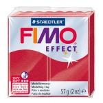 Pasta Staedtler fimo effect 56 gr metálico color rojo rubi