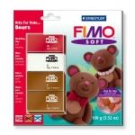 Pasta Staedtler fimo set de iniciación kfk bears incluye 4 pastillas + instrucciones detalladas