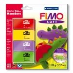 Pasta Staedtler fimo set de iniciación kfk monsters incluye 4 pastillas + instrucciones detalladas