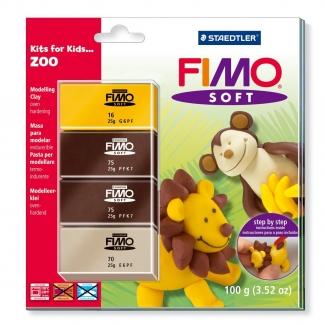 Pasta Staedtler fimo set de iniciación kfk zoo incluye 4 pastillas + instrucciones detalladas