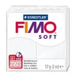 Staedtler Fimo Soft 8020-0 - Pasta para modelar, 57 gramos, color blanco