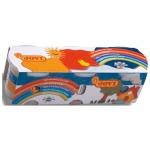 Pasta blandiver 403 color rojo amarillo azul caja de con 3 botes