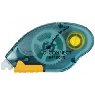 Q-Connect KF10943 - Pegamento compact roller, no permanente, 6,5 mm x 10 mt