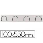 Perchero metálico 611 color blanco pared 4 colgadores