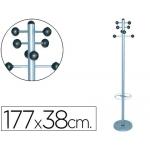 Perchero metálico 626 con paragüero pie 8 colgadores cm