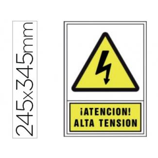 Pictograma Syssa señal de advertencia atencion! alta tension en pvc 245x345 mm