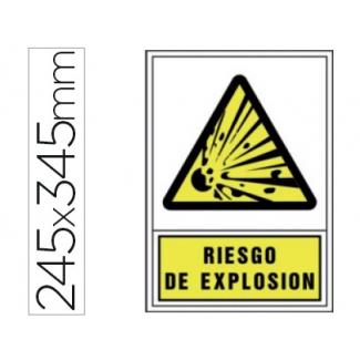 Pictograma Syssa señal de advertencia riesgo de explosión en pvc 245x345 mm