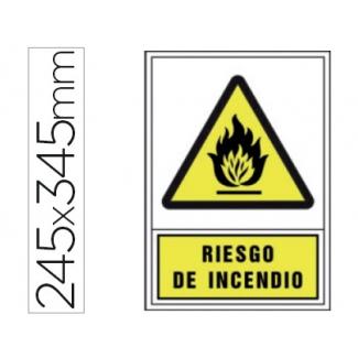 Pictograma Syssa señal de advertencia riesgo de incendioen pvc 245x345 mm