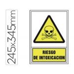Pictograma Syssa señal de advertencia riesgo de intoxicación en pvc 245x345 mm