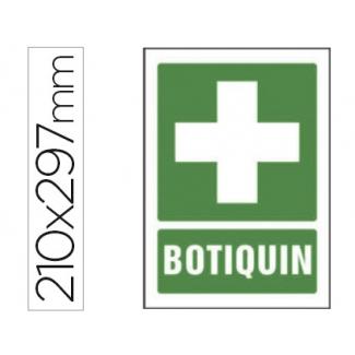 Pictograma Syssa señal de botiquín en pvc 210x297 mm