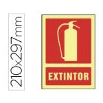 Syssa 6015F - Señal de extintor, pvc fotoluminiscente, medida 210 mm x 297 mm