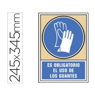 Syssa 4003 - Señal de es obligatorio el uso de los guantes, pvc, medida 245 mm x 345 mm