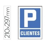 Pictograma Syssa señal de parking clientes en pvc 210x297 mm