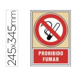 Pictograma Syssa señal de prohibición prohibido fumar en pvc 245x345 mm
