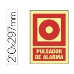 Syssa 6060F - Señal de pulsador de alarma, pvc fotoluminiscente, medida 210 mm x 297 mm