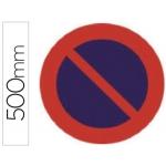 Pictograma Syssa señal vial estacionamiento prohibido en acero galvanizado 500 mm