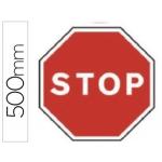 Pictograma Syssa señal vial stop en acero galvanizado 500 mm
