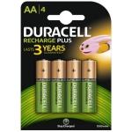 Duracell Recharge Plus 81367177 - Pila recargable, AA (LR06), blíster con 4 pilas