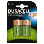 Duracell Recharge Plus 75052458 - Pila recargable, C (LR14), blíster con 2 pilas