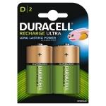 Pila Duracell recargable d blister de 2 unidades