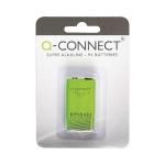Q-Connect KF00492 - Pila alcalina, 9V (LR61), blíster con 1 pila