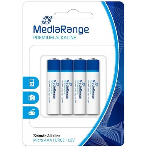 d1ef6421f MediaRange MRBAT101 - Pila alcalina, AAA (LR03), blister con 4 pilas. Click  para ampliar