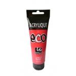 Pintura acrilica Wingo eco color rojo permanente claro tubo de 120 ml