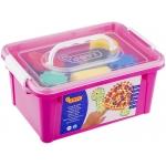 Jovi 566 - Pintura a dedos, 6 colores surtidos, set esponja + plantillas, bote de 125 cc
