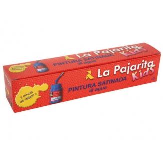 La Pajarita 119097 - Pintura satinada, colores surtidos, botes de 35 ml, caja de 6