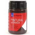La Pajarita L-10 - Pintura satinada, color marrón, bote de 35 ml