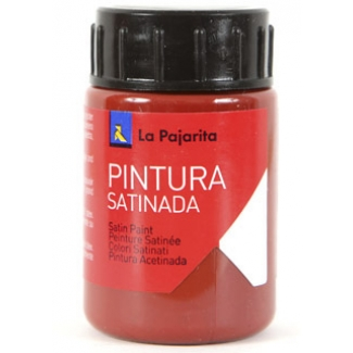 La Pajarita L-8 - Pintura satinada, oxido, color rojo, bote de 35 ml