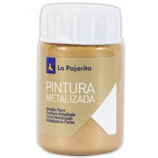 La Pajarita ME-4 - Pintura metalizada, color oro ducado, bote de 35 ml
